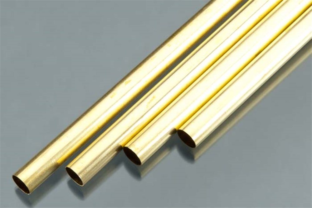 7//16 OD x 0.014 Wall Thickness x 36 Length Made in USA K/&S Precision Metals 9111 Round Brass Tube 4 pc