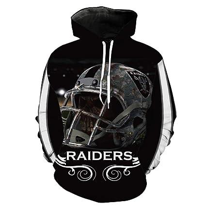 Imzoeyff Unisex 3D impresión Sudadera con Capucha suéter Equipo Americano de fútbol Rugby impresión Encapuchado Bolsillo