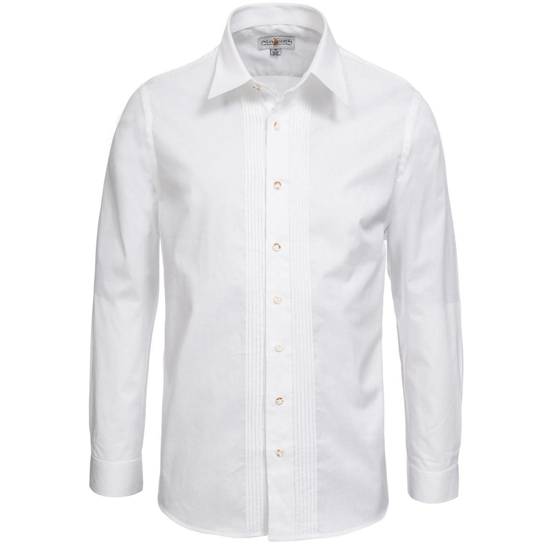 Trachtenhemd Regular Fit mit Biesen in weiß von Almsach