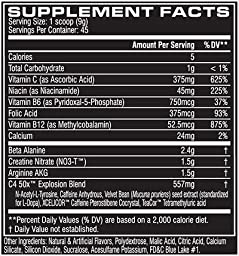 C4 50X High Energy Pre Workout Supplement, Icy Blue Razz, 30 Servings