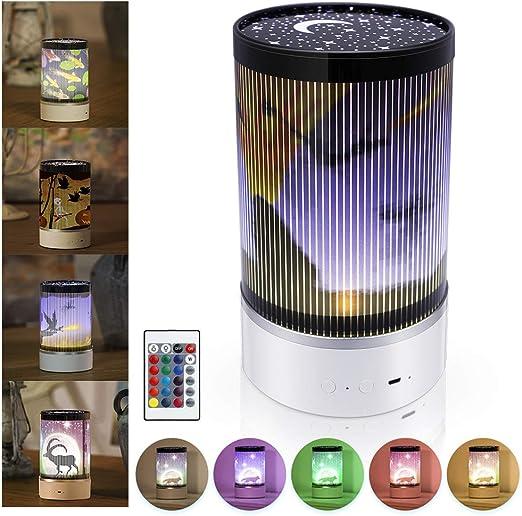 EXTSUD Lámpara de Proyector Luz Proyector Infantil con 4 Películas ...