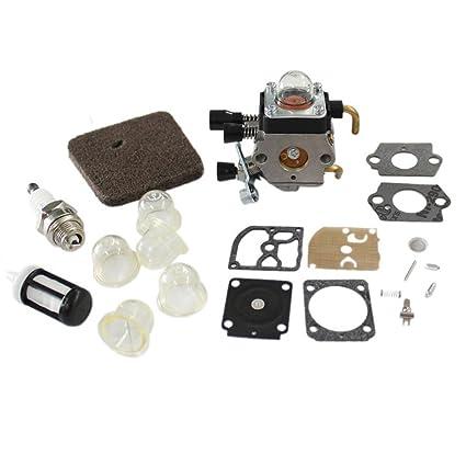 HURI Carburetor & Diaphragm Gasket for Stihl FS45 FS46 FS55 FS74 FS75 FS76  FS80 FS85