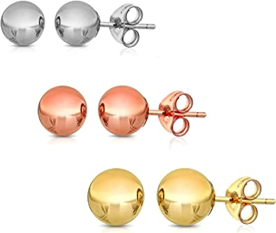 Plain Sterling Silver 925 Ball Earring Solid Ball Head Silver Stud Earring Silver ball Stud earring