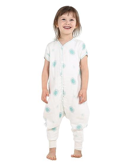 Saco de dormir bebé saco algodón saco dormir bamboo-fiber (Sleep Nido azul azul