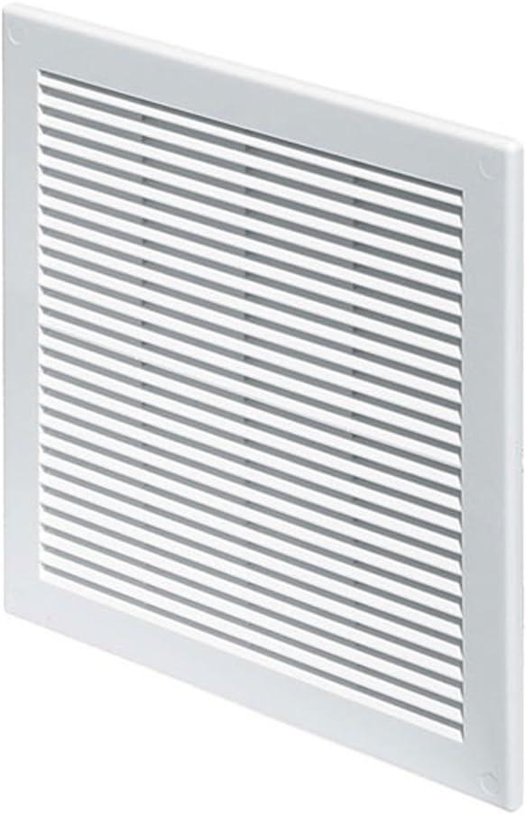 FUSSY CHOICE TRU-10 - Rejilla de ventilación (plástico, 30 x 30 cm, con mosquitera), color blanco