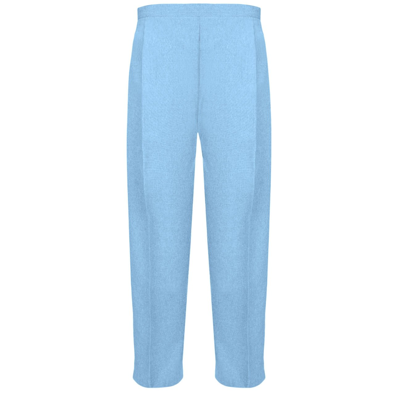 MyShoeStore Ladies Half Elasticated Trouser Womens Stretch Waist Casual Office Work Formal Trousers Pants With Pockets Plus Big Size 10-24