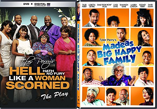Tyler Perry's Double Feature Madea's Big Happy Family - The Movie & Hell Hath No Fury Like a Woman Scorned - The Play 2-DVD Bundle