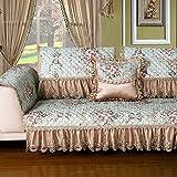 Modern Simple Sofa Towel/Living Room European Fabric/Solid Wood Sofa Mat/Cover Towels/Anti-skid Cushion-B 90x90cm(35x35inch)