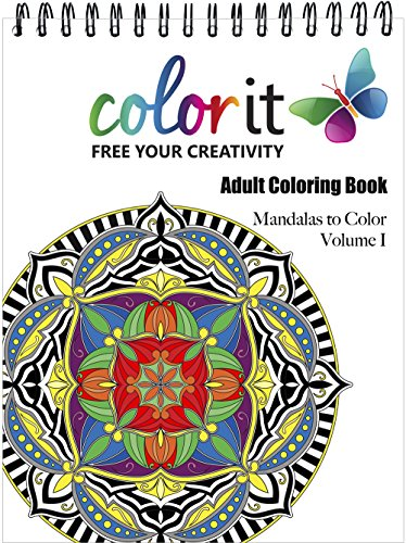 Mandala coloring book for adults with thick artist quality Coloring books for adults spiral bound