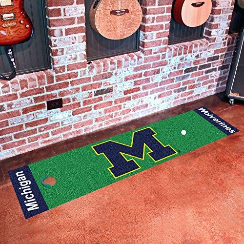 - FANMATS NCAA University of Michigan Wolverines Nylon Face Putting Green Mat