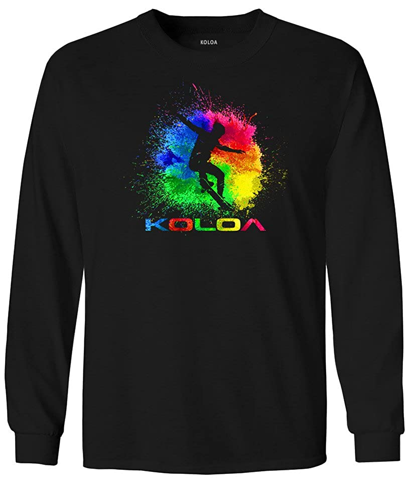 3facd3b2 Koloa Surf Youth Rainbow Splash Skateboarder Cotton Long Sleeve Tees An  indispensable t-shirt in our classic silhouette--with a very friendly price.