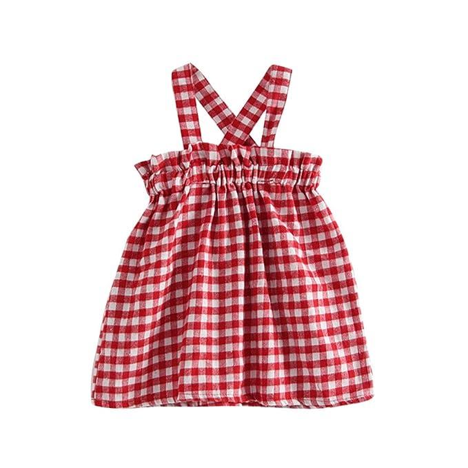 Vestido de Niña Vestido de la Honda Vestido de Tartán Princesa ...