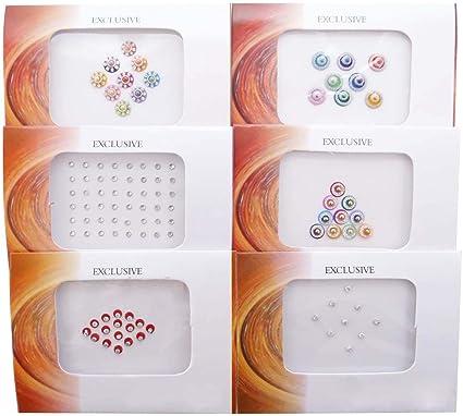 Pack de 6 Tradicional Bindi auto frente tatuaje pegatinas regalo para las mujeres: Amazon.es: Belleza