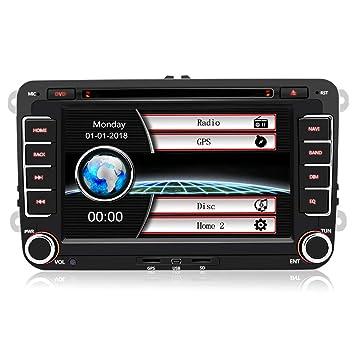 """Autoradio con Pantalla Táctil 2 DIN Reproductor MP5 Multimedia 7"""" de Coche, Radio GPS"""