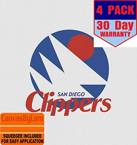 San Diego Clippers 4 Stickers 4X4 Inches Car Bumper Window Sticker Decal ()