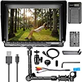 Neewer NW74K 7 Ultra HD 4K Camera Monitor Charging Kit, 1280x800 IPS Screen Camera Monitor + Magic Arm + USB Battery Charger + Battery for Sony Canon Nikon Olympus Pentax Panasonic