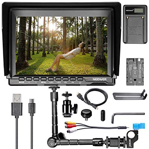Neewer NW74K 7' HD 4K Monitor de Cámara Kit de Carga,incluye Monitor de Cámara con 1280X800 Pantalla IPS + Brazo Mágico +...