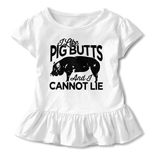Amazon com: Little Girls' I Like Pig Butts and I Cannot Lie Funny