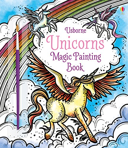 Unicorns Magic Painting Book, w. paintbrush - Magic Painting Book