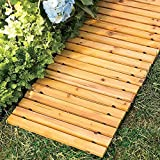 Garden Pathway 8'Ft Walkway Wooden Portable Lawn Landscaping Outdoor Path