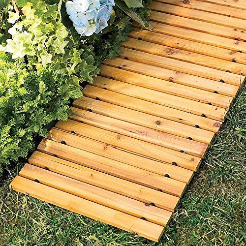 - Garden Pathway 8'Ft Walkway Wooden Portable Lawn Landscaping Outdoor Path