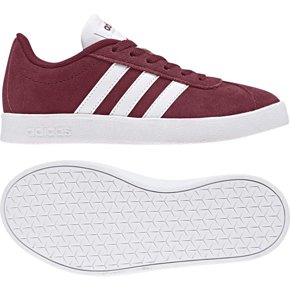 Rouge (Buruni Ftwbla Gridos 000) adidas VL Court 2.0 K, Chaussures de Gymnastique Mixte Enfant 36 2 3 EU
