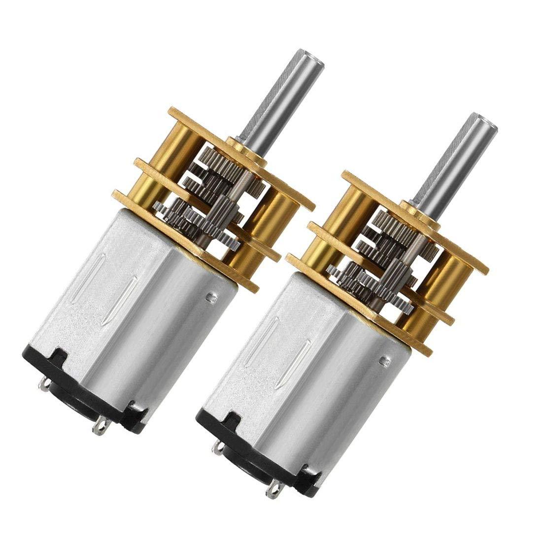 Aodesy DC Gear Motor Electric Gear Box DC 6V Gear Box Reduction Motor with Long Output Shaft 30RPM 2Pcs (2Pcs 6V 30RPM)