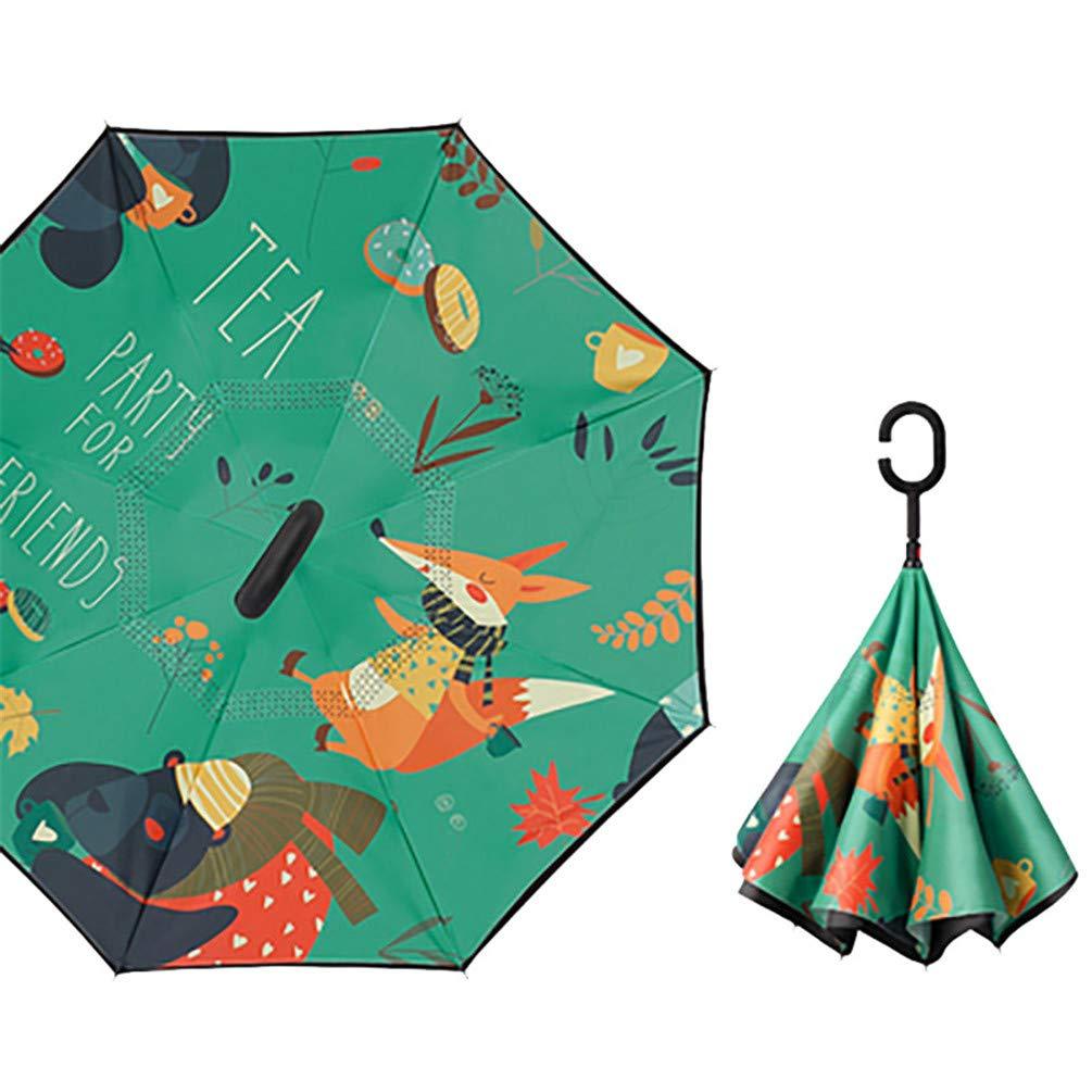 Amazon.com: J&D UMBRKIDS Double Umbrella Kids Umbrella Windproof Bulldog Auto Defense Style A: Sports & Outdoors