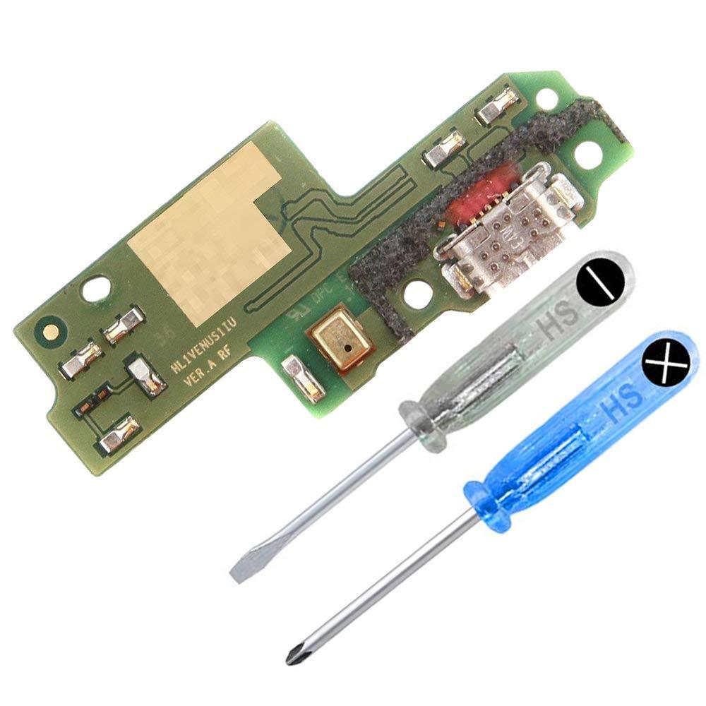 MMOBIEL Conector Dock Puerto Cargador para Huawei P9 Lite Flexcable Incl 2X Destornilladores y una Palanca Triangular (Plectrum) para una fácil ...