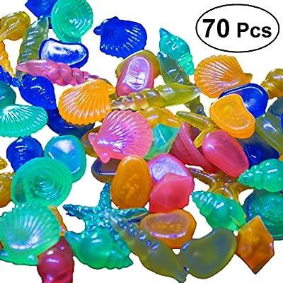 POPETPOP 70 Piezas guijarros Decorativos Multicolores, graviers Luminoso en la Oscuridad, Piedras Decorativas para jardín depósito de Peces y florero de artesanía decoración (Color Mixta): Amazon.es: Productos para mascotas