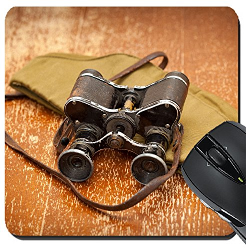 Price comparison product image MSD Suqare Mousepad 8x8 Inch Mouse Pads/Mat design: 31602281 Victory Day on May 9 Military binoculars field cap Retro style