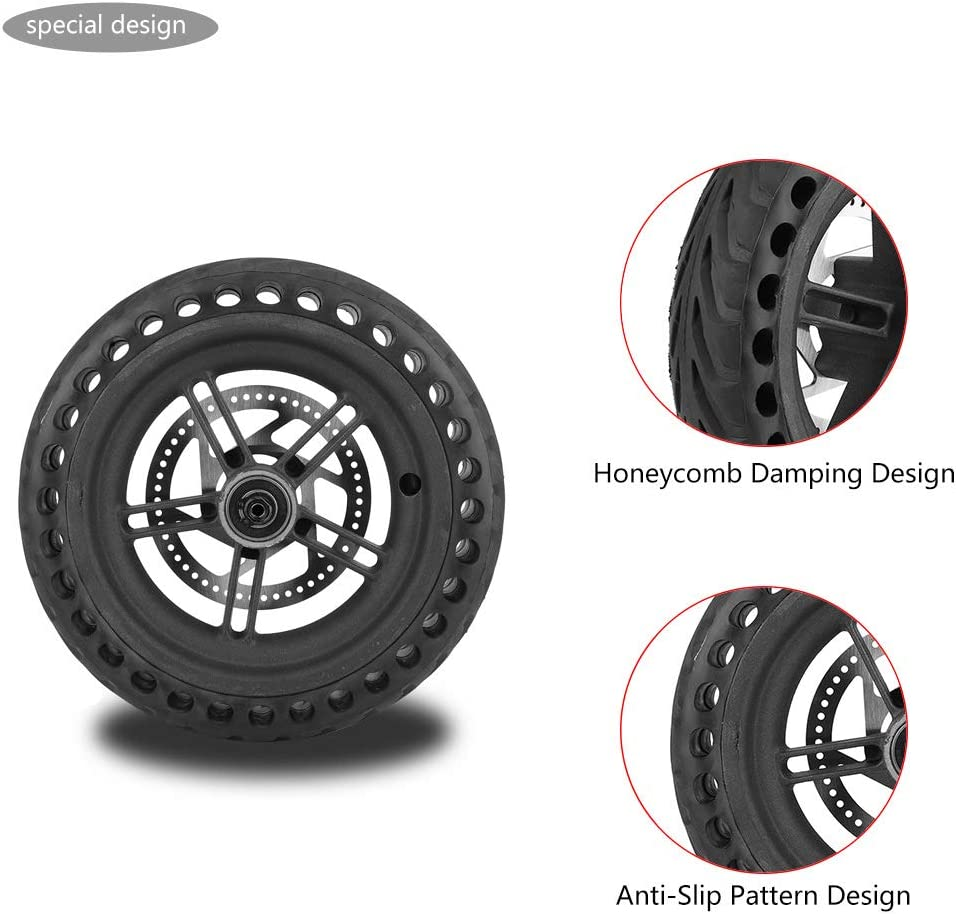 Yosoo Health Gear Rear Wheel Hub Shock-Absorbing Electric Scooter Rear Tire Wheel Replacement Set Compatible with M365 Electric Scooter
