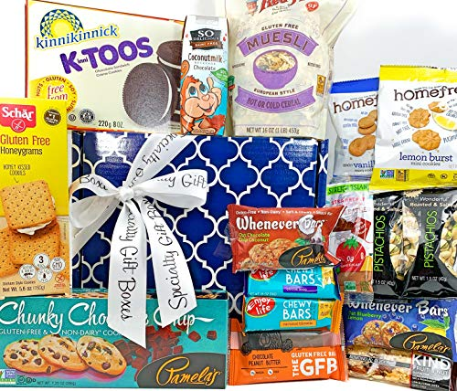 Big Gluten Free Dairy Free Gift Box Basket - 5 Lbs - Birthday College Military Care Package Sympathy Thinking of You Get Well Christmas Valentine's Easter Mother's Day Father's Day
