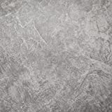 3D Stained Gray Cement Look Wallpaper, Textured Slate Gray Concrete Wallpaper (Unpasted) for Living Room Furniture, Roll 20.8 inch x 32.8 feet, 1 Roll Pack