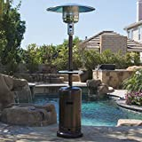 Belleze Patio Heater Propane with Adjustable Table Hammered Tone (Small Image)