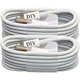 Apple MFi Certified, iPhone 5 Charger Cable, Cell Phone DIY USB Sync and Charging Lightning Cable for iPhone 6, 6 Plus, 5S, 5C, 5, iPad 4, iPad Air, iPad Mini (1m / 3ft White)