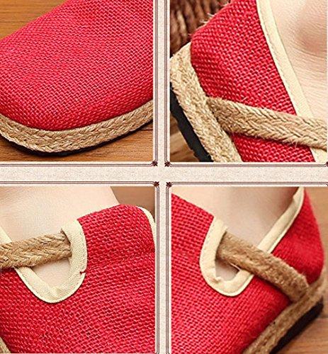 Mujer Diseño Compras Viaje Casual Transpirable Calzado y Rojo simpl de de de Verano Zapatos Cómodo wYxzIw