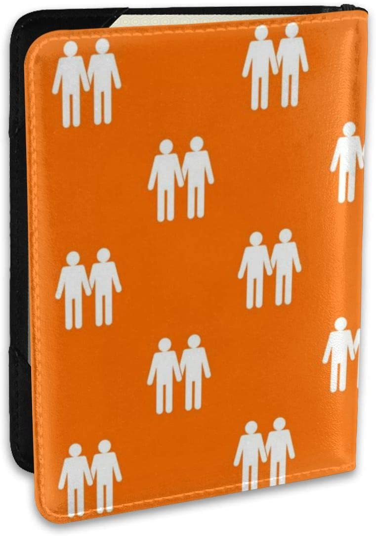 Biahos Leather Passport Cover Two Gay Men Art Wallet For Passport Case