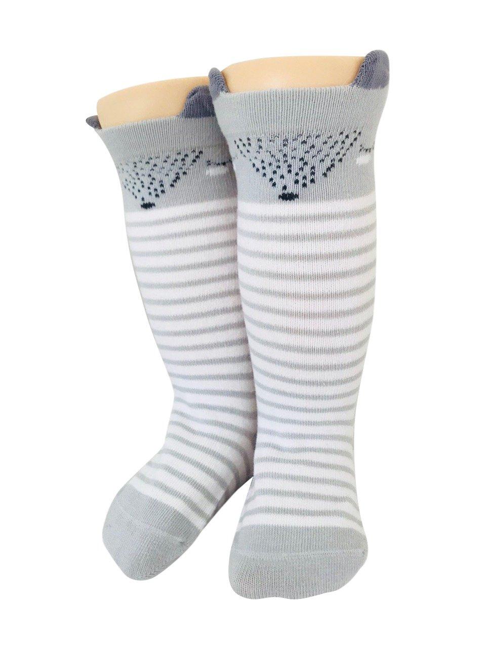 Baby Girl Knie High Lange Socken Non Slip Kleinkind Socken 12-24 ...