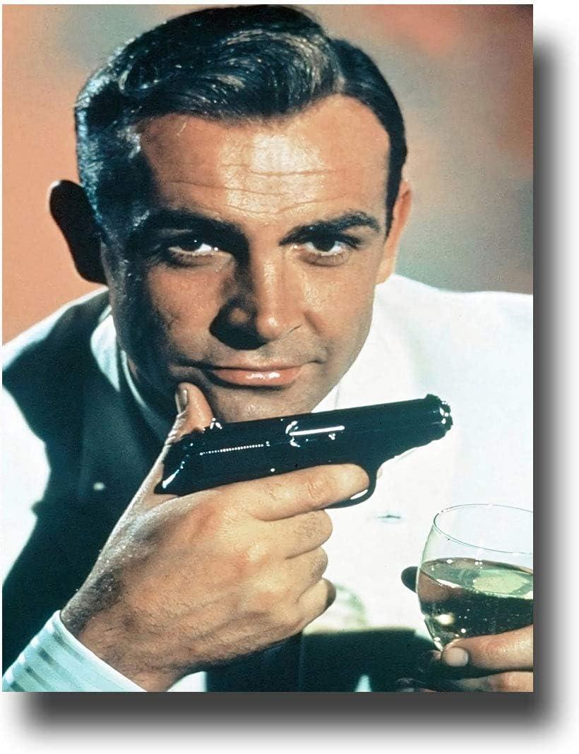 SSKJTC Sean Connery James Bond pistola oficina sala de estar hogar Deco arte decoración de pared lienzo 50 x 70 cm