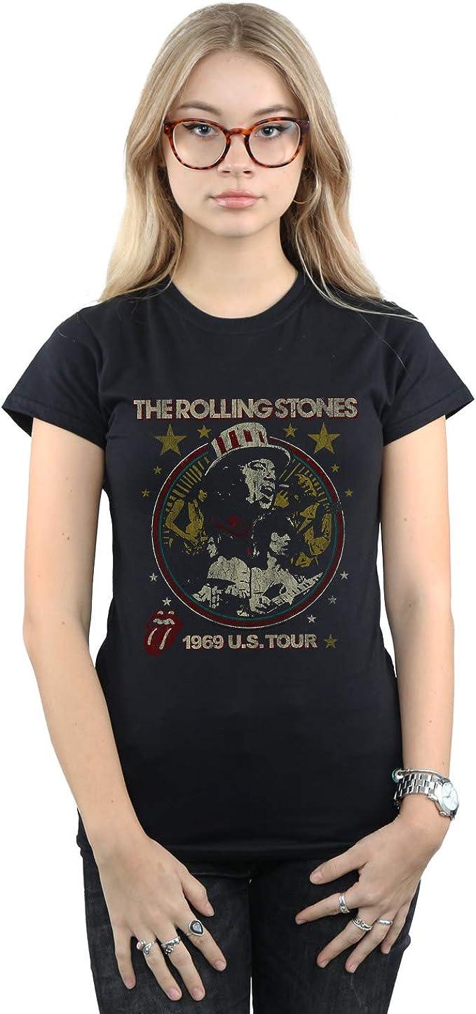 Rolling Stones Mujer 1969 Live Montage Camiseta: Amazon.es: Ropa y accesorios