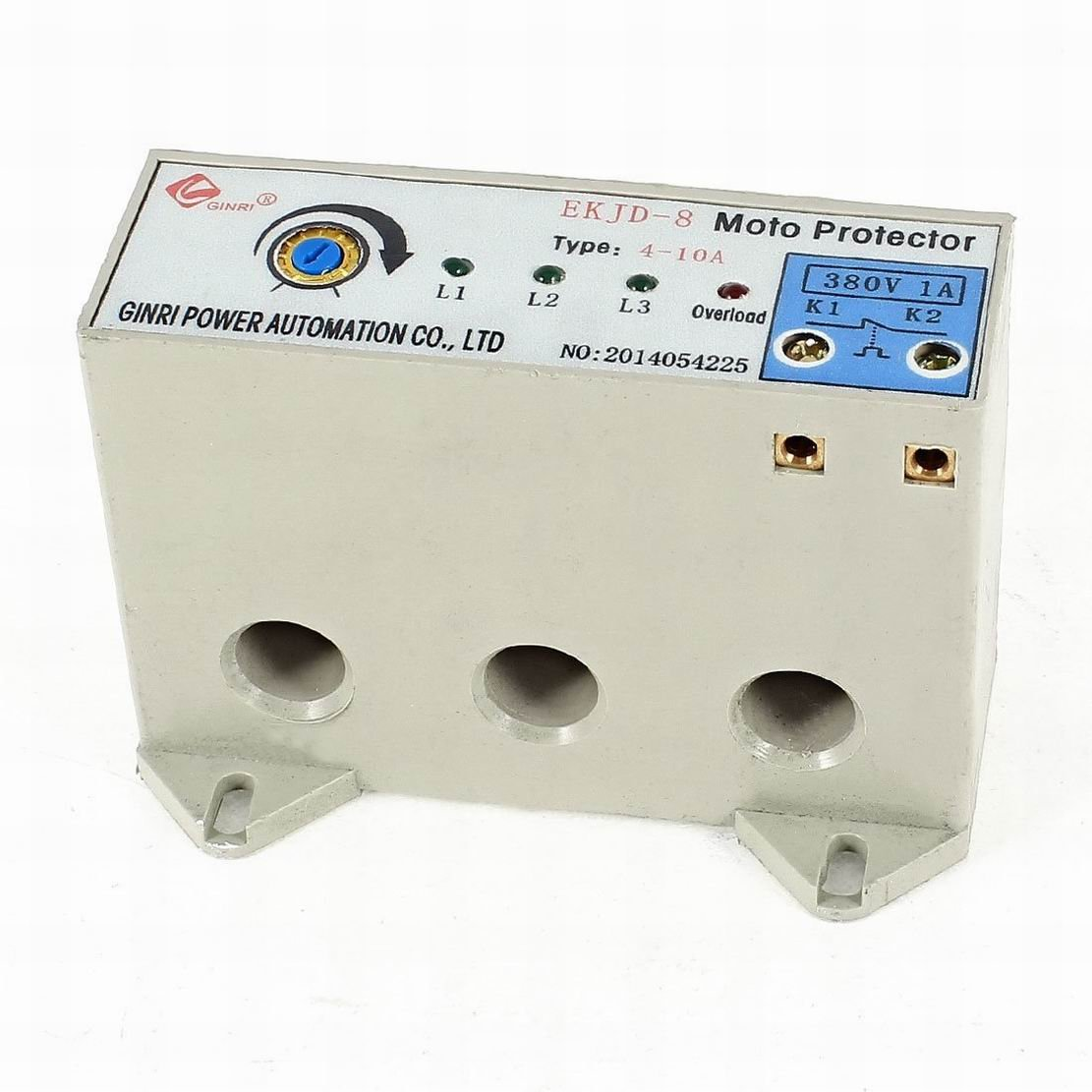 Uptell EKJD-8 3 Phase 4-10 Ampere Adjustable Current Motor Circuit Protector