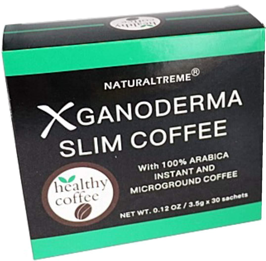 PureGano Ganoderma Slim Coffee Weight Loss 100% Arabica Black Premium Instant Coffee - 2 Box of 30 Sachets + 4 Bonus Sachets - 64 Sachets Total