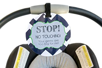 Boy Preemie Sign Newborn Baby Car Seat Tag Shower Gift Stroller
