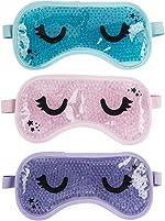 3 Pack - Gel Bead Reusable Eye Mask - Heat or