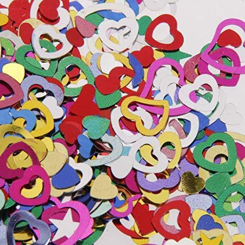 BROSCO Wedding Heart/Star Table Confetti Foil Decoration Birthday Party Confetti Supply   Color - Multi-Color Hollow Heart (Sapphire Tuxedo)