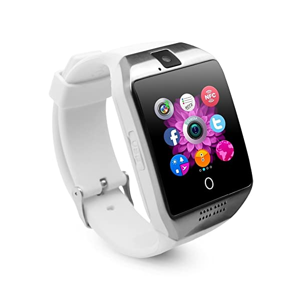 Bluetooth Smart Watch with Camera, Aosmart Q3000 Smartwatch for Android Smartphones (Q3000 - White