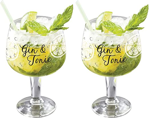 Set of 2 x 650 ml Dartington Crystal Crystal Copa Gin Glasses Gift Boxed
