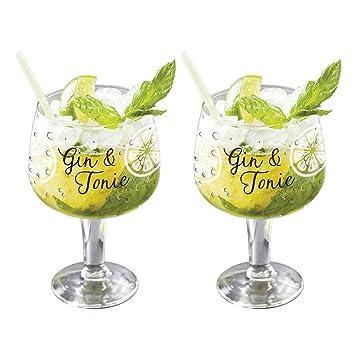 Juego De 2 Vasos De Globo De Copa Gin Tonic G T 650 Ml Amazon Es