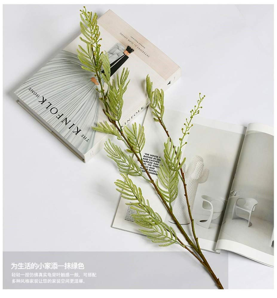 Artificial-Decorative-Flowers-Fresh-literary-simulation-mimosa-high-end-flower-arrangement-single-bundle-model-room-decoration-flower-study-with-flowers-Flower-Products-includeArtificial-Flowers